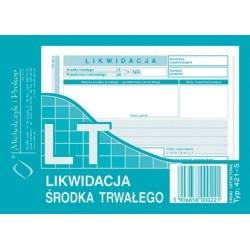 LT Likwidacja Środka Trwałego A6 40 kartek