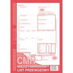 CMR międzynarodowy list przewozowy  A4 80 kartek 4+1