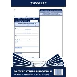 Polecenie wyjazdu słuzbowego - delegacja A5 50 kartek
