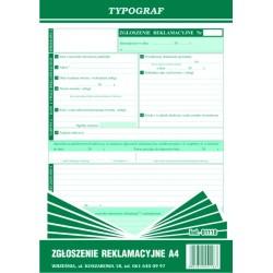 Zgłoszenie reklamacyjne A4 80 kartek