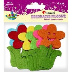 Kwiaty dekoracyjne z filcu TITANUM 78mm