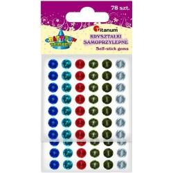 Kryształki dekoracyjne samoprzylepne TITANUM 6 kolorów