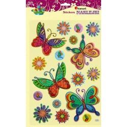 Naklejki dekoracyjne z materiału Motyle i Kwiaty TITANUM duże